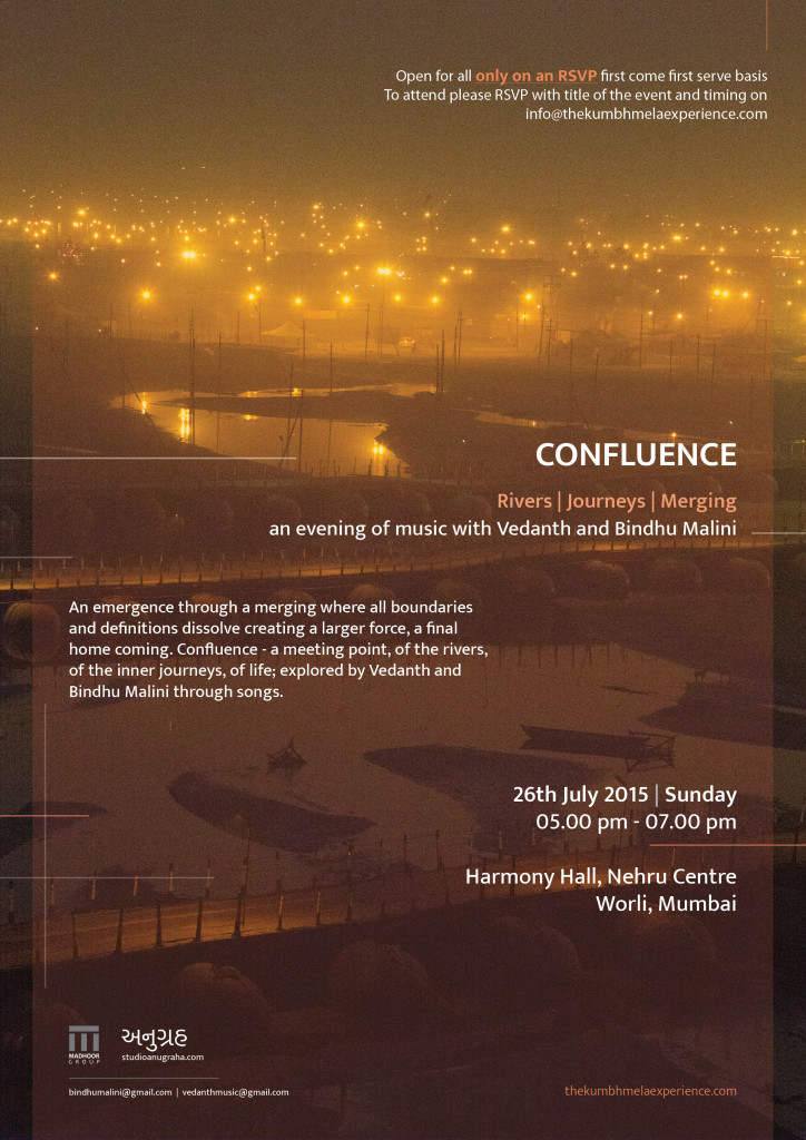 Confluence An evening of music with Vedanth and Bindu Malini