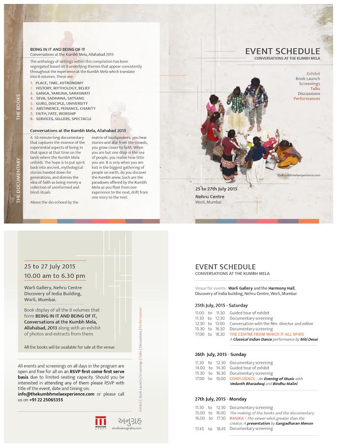 Event schedule-The Kumbh Mela Experience copy